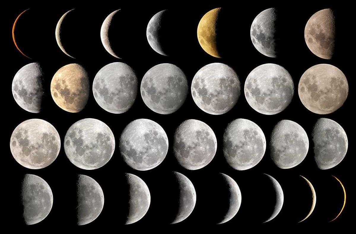 صور منازل القمر , اشكال ومنازل تطور القمر
