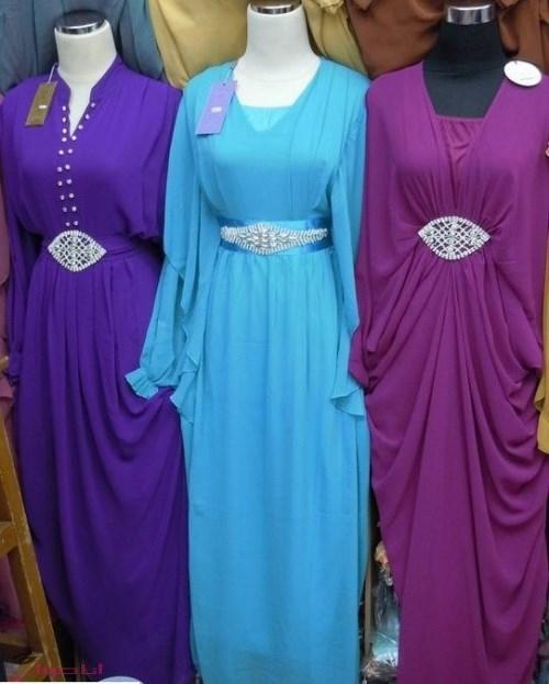 بالصور عبايات خروج ملونة مصرية , جمال عبايات البنات 2177 2