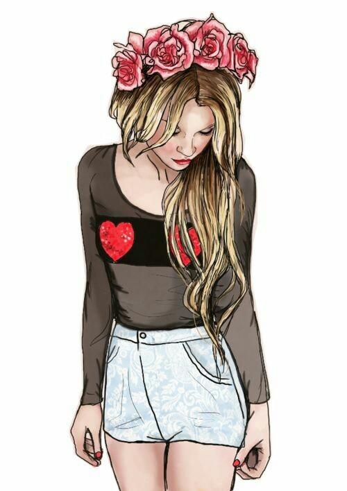 بالصور رسومات بنات حلوه , البنت الحلوة الفرفوشة المرسومة 2245 8