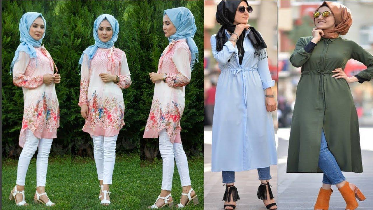 بالصور فساتين محجبات 2019 , الحجاب تاج البنات 2350 10
