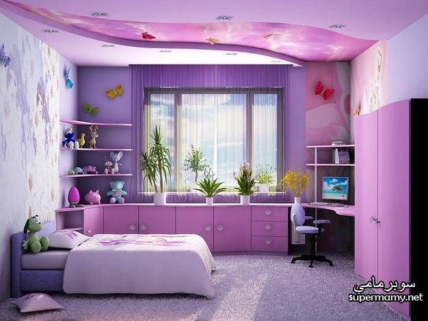 صور ديكورات جبس , غرف نوم اطفال