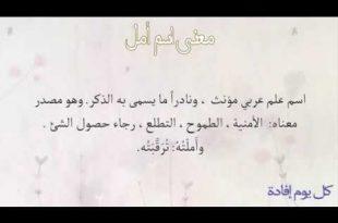 صور معنى اسم امل , معني اسم امل وصفات من يحمل هذا الاسم في اللغة العربية