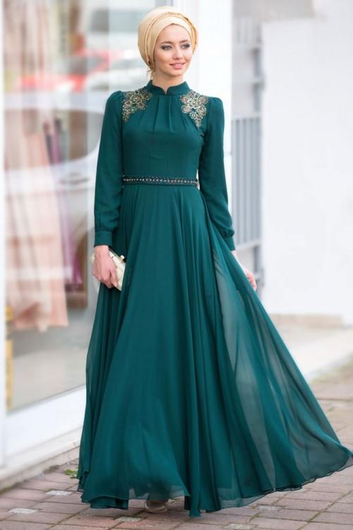 صورة اجمل الفساتين للمحجبات , فساتين محجبات روعه 3790 1