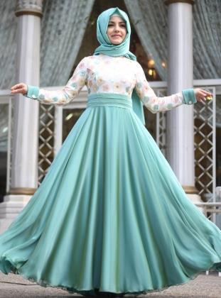 صورة اجمل الفساتين للمحجبات , فساتين محجبات روعه 3790 2