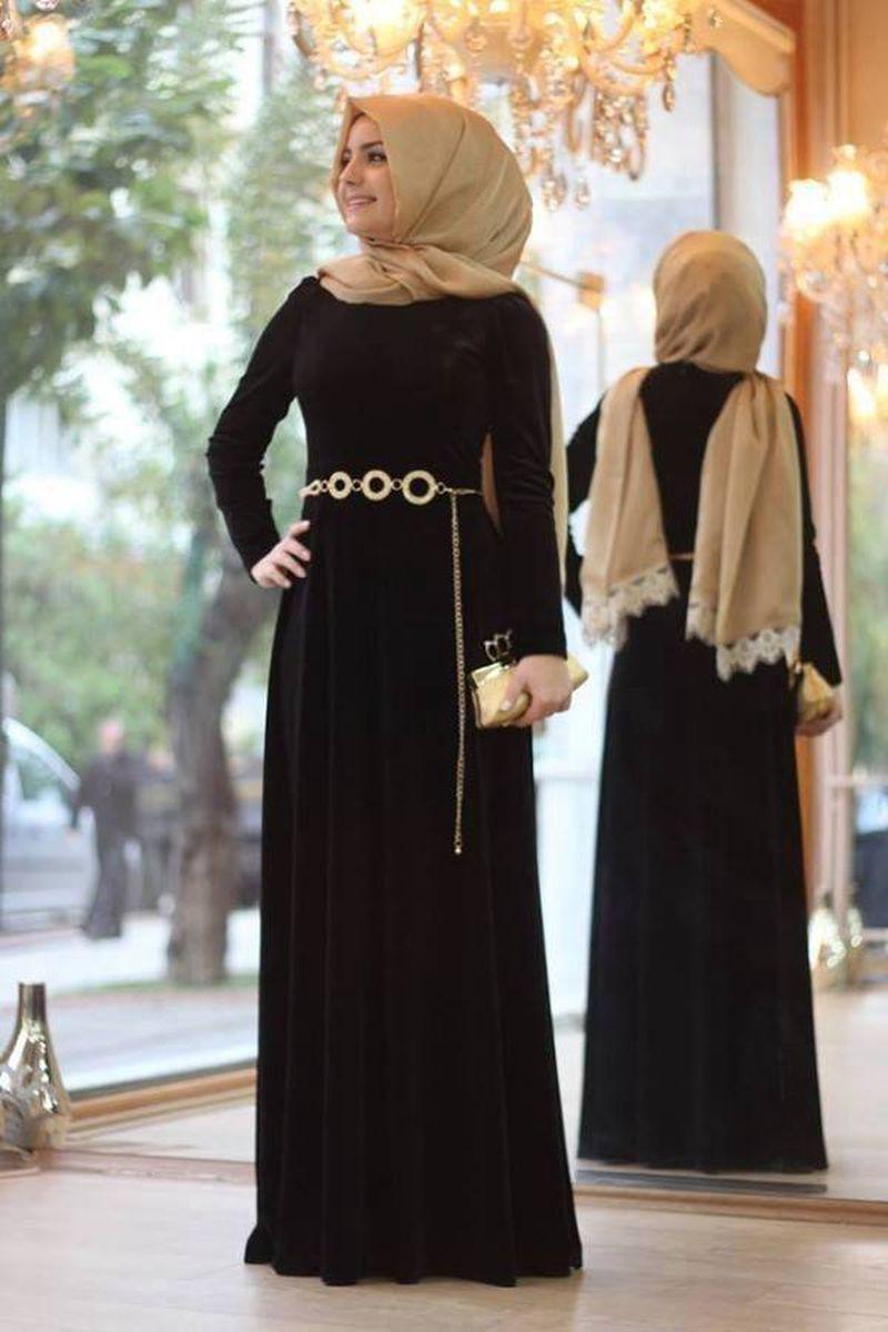 صورة اجمل الفساتين للمحجبات , فساتين محجبات روعه 3790 4