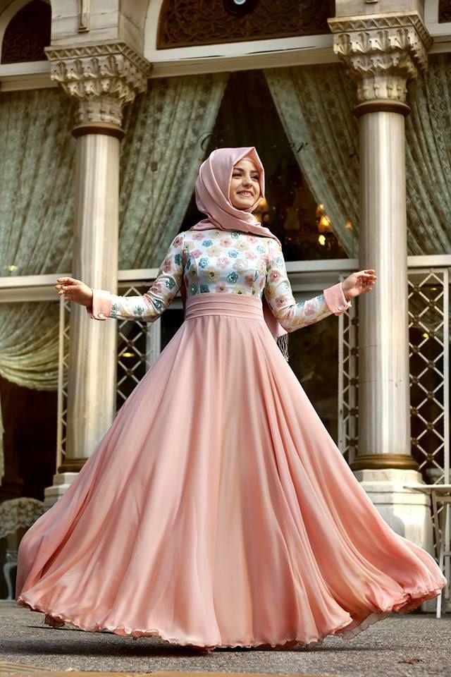 صورة اجمل الفساتين للمحجبات , فساتين محجبات روعه 3790 5