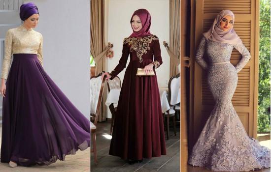 صورة اجمل الفساتين للمحجبات , فساتين محجبات روعه 3790 9