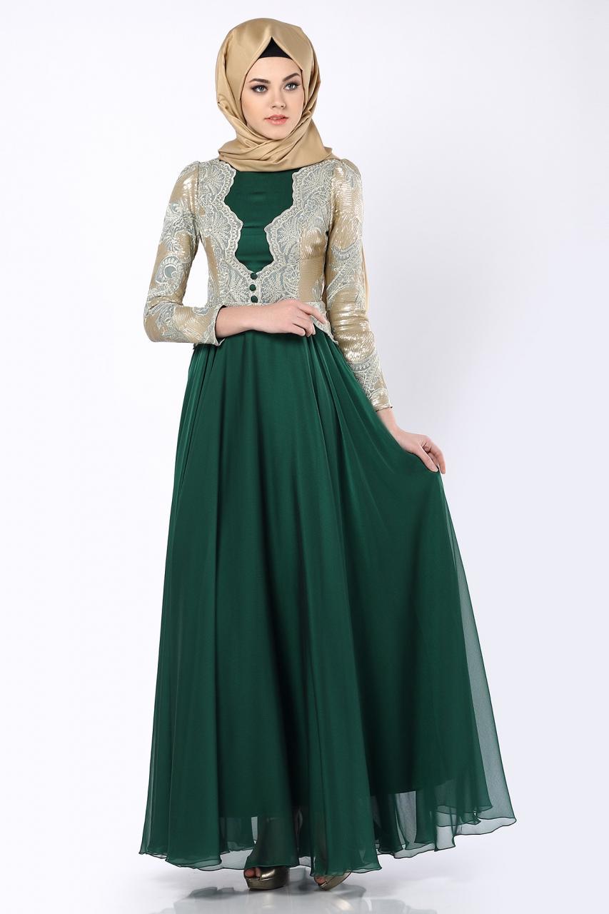 صورة اجمل الفساتين للمحجبات , فساتين محجبات روعه 3790