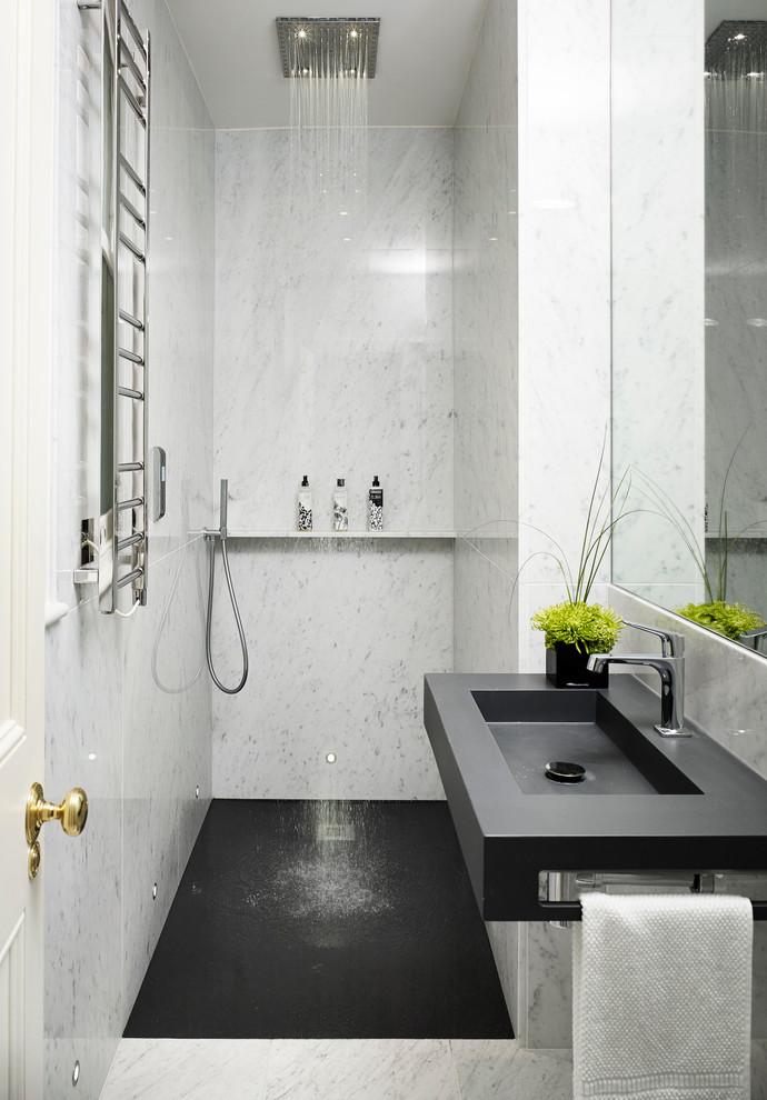 بالصور ديكورات حمامات صغيرة جدا وبسيطة , افكار لتنظيم الحمامات الصغيره 4364 7