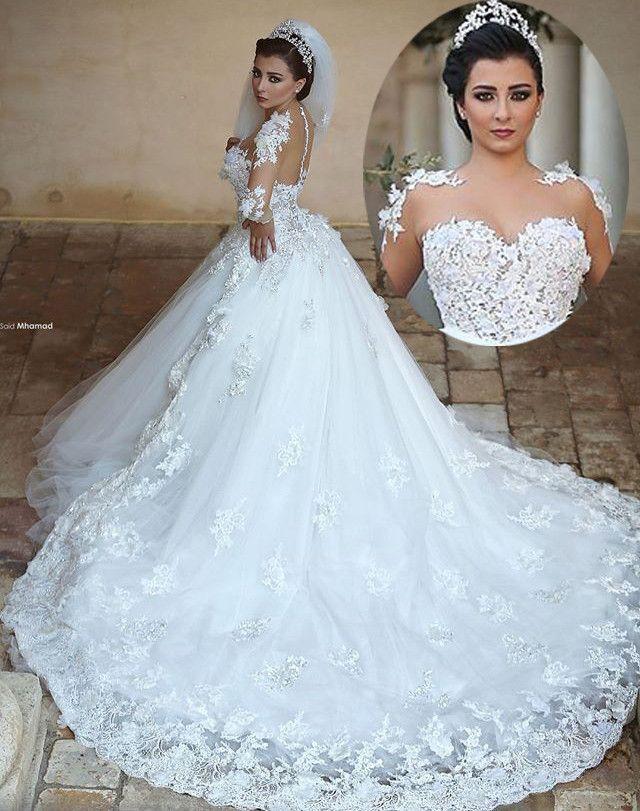 بالصور صور فساتين عرايس , فساتين زفاف راقيه 4623 1