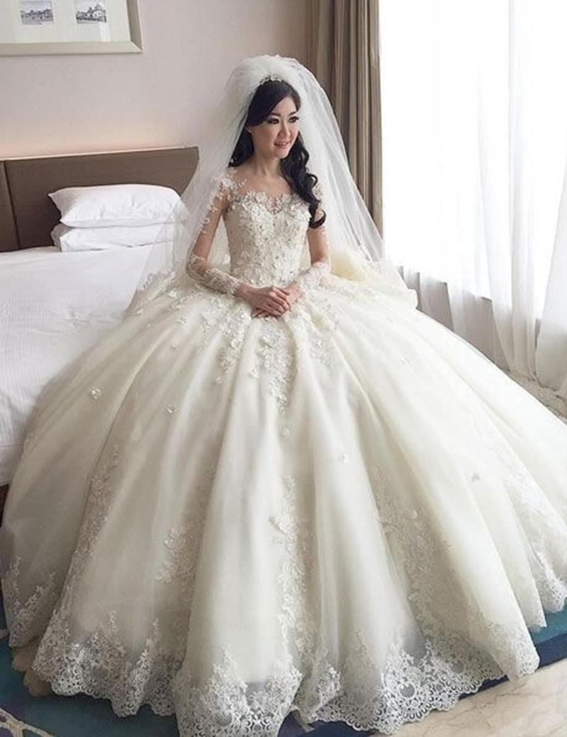 بالصور صور فساتين عرايس , فساتين زفاف راقيه 4623 7