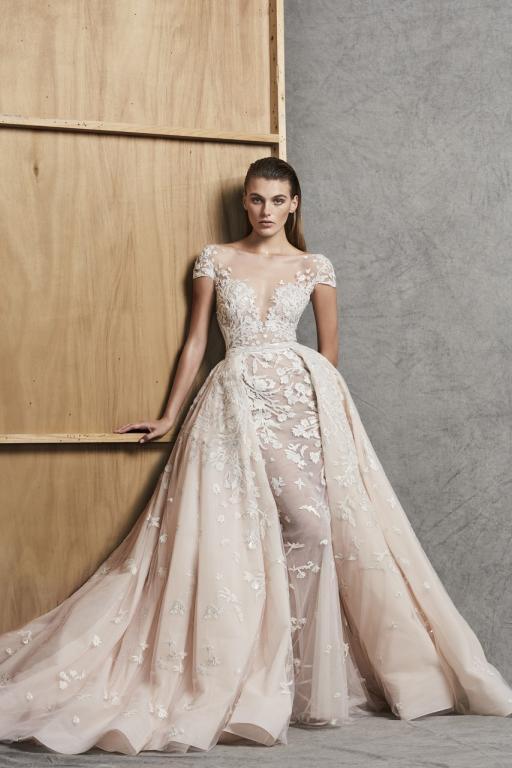 صوره فساتين زفاف زهير مراد 2018 , اروع واجمل فساتين الزفاف للمصمم اللبناني زهير مراد.