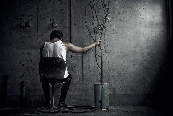 صوره صور شخص حزين , خلفيات معبرة عن الزعل