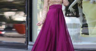 صوره صور فساتين سهرة للمحجبات , افضل تصميمات لفساتين سهره للمحجبات