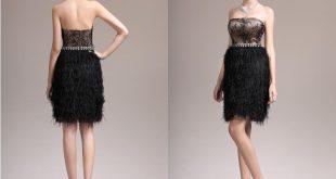 صوره فساتين قصيرة للسهرات , اروع تصميمات لفساتين السهره