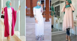 صور تنسيق الملابس للمحجبات , تناسب الالوان فى البسة المحجبات