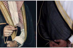 صوره طريقة لبس البشت , كيفية ارتداء البشت