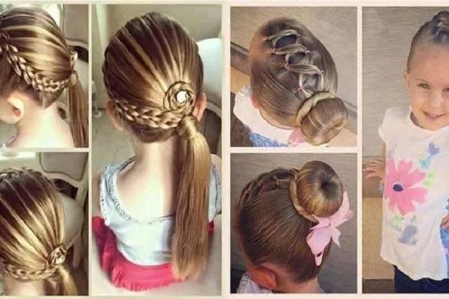 بالصور بالصور تسريحات شعر للاطفال , اروع فورمات لشعر البنات الصغار 3608 2