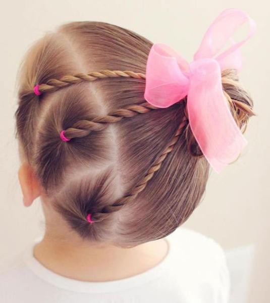 بالصور بالصور تسريحات شعر للاطفال , اروع فورمات لشعر البنات الصغار 3608 8