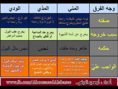 صور ماهو المذي , معلومات اسلامية عن المذي وحكم التطهر منه