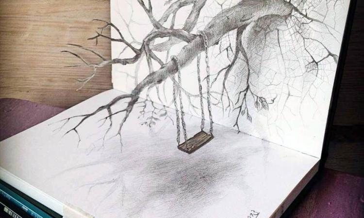 صورة رسومات جميلة وسهلة , لوحات فنية تدخل الي القلب