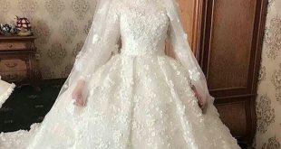 بالصور فساتين زفاف للمحجبات , موديلات رائعه لكل محجبة في ليلة الزفاف 1438 11 310x165