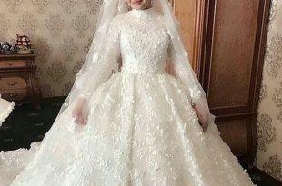 صور فساتين زفاف للمحجبات , موديلات رائعه لكل محجبة في ليلة الزفاف