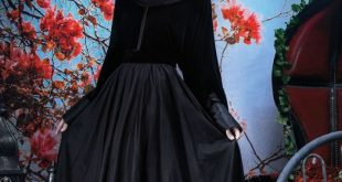 صور عبايات مخمل , باطلالة رائعة المراة العربية عبايات شيك مخملية