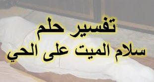 بالصور السلام على الميت في المنام , تفسير حلم السلام على شخص مات 6716 3 310x165