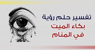 بالصور بكاء الميت في المنام , تفسير بكاء الميت فى الحلم 1291 2 310x165