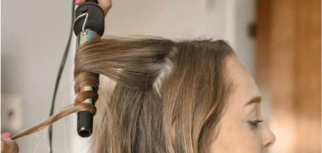 بالصور لف الشعر بالفير , كيفية تصفيف الشعر باستخدام الفير 12749 12