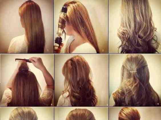 بالصور لف الشعر بالفير , كيفية تصفيف الشعر باستخدام الفير 12749 2