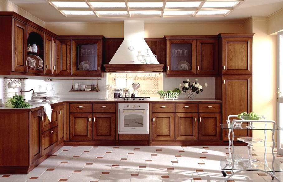 صورة احدث المطابخ الخشب , التصميمات المختلفة للخشب فى المطابخ العصرية