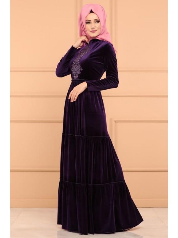 صور فستان مخمل , اجمل اطلالة فساتين المخمل