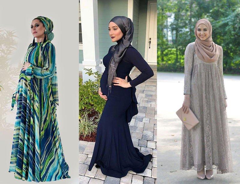 صور ملابس للحوامل المحجبات , لباس شيك ورائع للحوامل المحجبات