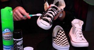 صور تنظيف جزم سكيتشرز , طرق غسيل حذاء سكيتشرز