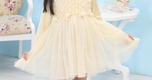 صورة فساتين قصيرة للاطفال , شاهد اروع الفساتين على الموضة للاطفال