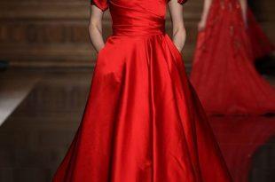 صورة فساتين سواريه لونها احمر , شاهد اروع الفساتين سوارية لونها احمر