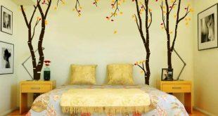 صورة فنون في غرفة النوم.اجمل موديلات غرف النوم المودرن