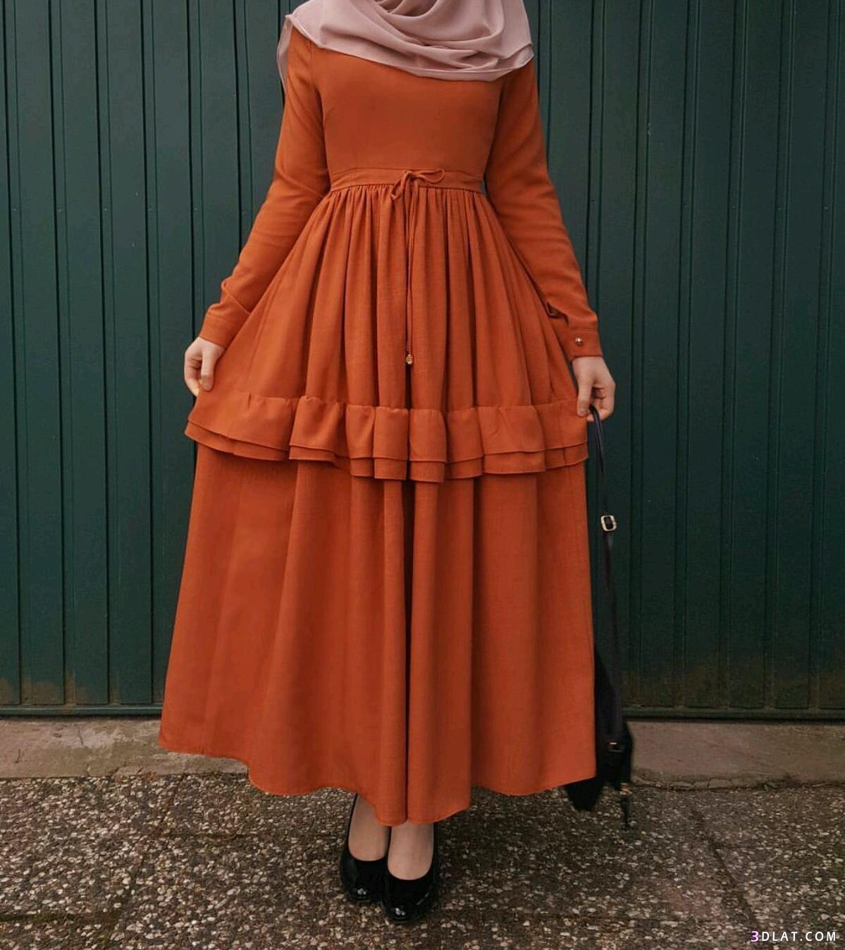 صورة فساتين تركية للمحجبات , اروع الفساتين التركية للبنات المحجبات في غاية اجمال 6453 2