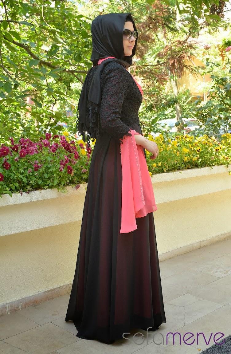 صورة فساتين تركية للمحجبات , اروع الفساتين التركية للبنات المحجبات في غاية اجمال 6453 9