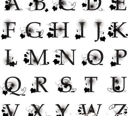 صورة حروف مزخرفة للفيس , تعال شوف شكل حرفك واعمله خلفيه للفيس 13268