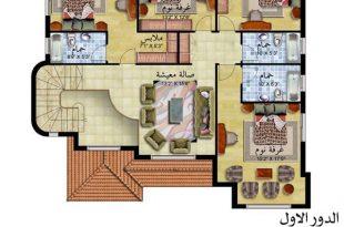 صورة مخططات فلل صغيرة دورين سعوديه , اشكال وتصميمات فلل دورين 13364 3 310x205
