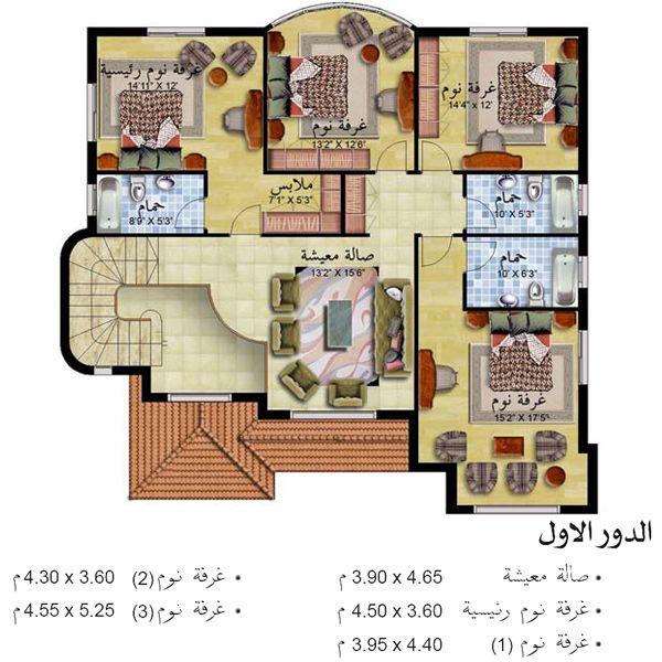 صورة مخططات فلل صغيرة دورين سعوديه , اشكال وتصميمات فلل دورين 13364